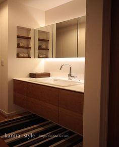 ima6 Living Room Tv Unit Designs, Interior Design Living Room, Bathroom Toilets, Washroom, Bathroom Inspo, Bathroom Interior, Japanese Home Design, Earthy Decor, Japanese Bathroom