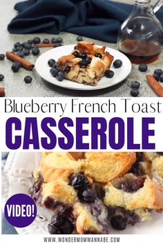 This Blueberry French Toast is one of my family's favorite make ahead breakfast casseroles. It looks and tastes like dessert but the eggs, milk, and blueberries give your family a good dose of protein, calcium and antioxidants. Breakfast Casserole French Toast, Blueberry French Toast Casserole, Breakfast Dishes, Healthy Oatmeal Breakfast, Blueberry Breakfast, French Desserts, Healthy Crockpot Recipes, Dessert Recipes, Party Recipes