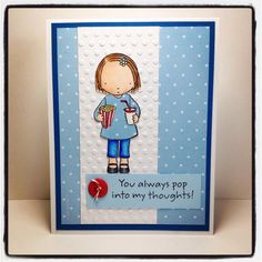 I made this for my little buddy this week - her favourite colour is blue