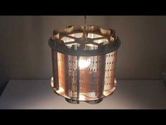 Laser Cut Living Hinge Lampshade 01 - Made from Plywood - YouTube