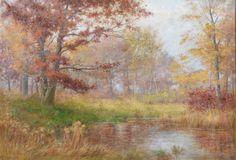 Daniel F Wentworth Connecticut Impressionist Fall River Landscape Oil Painting | eBay