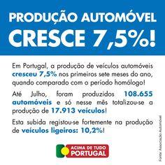 Produção Automóvel cresce 7,5%! #AcimadetudoPortugal
