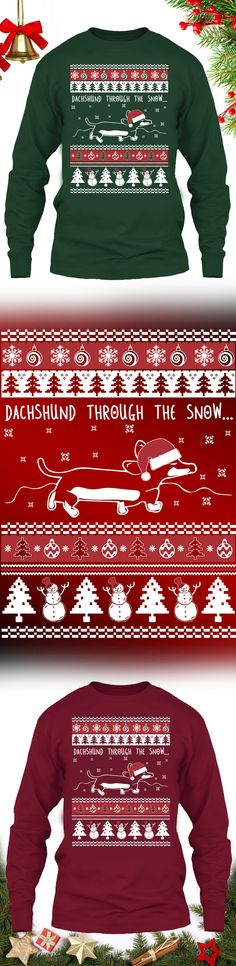 Dachshund Christmas Sweater - Get this limited edition ugly Christmas Sweater just in time for the holidays! Only 2 days left for FREE SHIPPING, click to buy now!