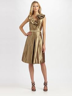 Teri Jon - Silk Dress - Saks.com