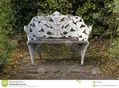 Ornate park bench stock image. Image of alone, bench - 41652633