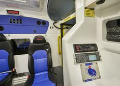 The GDIN control panel is in the patient compartment where it is used to manage a large number of vehicle functions.