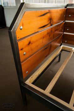 Modern Redwood Daybed or Sofa Steel Frame Custom by MezWorks