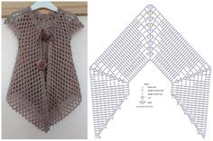 Cardigan Au Crochet, Crochet Baby Dress Pattern, Baby Dress Patterns, Crochet Diagram, Crochet Cardigan, Crochet Shawl, Crochet Stitches, Crochet Patterns, Booties Crochet