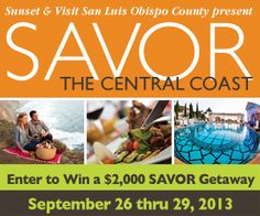 Enter to win!!! Your hosts at WineCoastCountry.com invite you to stay, sip and indulge with us during SAVOR The Central Coast. Now is the time to plan your accommodations, adventure tours and VIP events. #win #getawaygiveaway #winecountry #contest