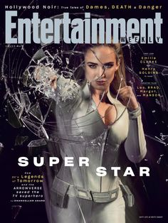 Caity Lotz Punches Through Glass On EW's Special Arrowverse Cover - See Them All!: Photo Caity Lotz breaks some glass on the cover of this amazing new Arrowverse cover from Entertainment Weekly. The Legends of Tomorrow star covers just one of the… Entertainment Weekly, Brandon Routh, Clark Kent, Crossover, Dc Comics, White Canary, Lance Black, Infinite Earths, Cw Series