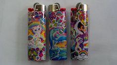 LISA FRANK Custom Lighters. $7.00, via Etsy.