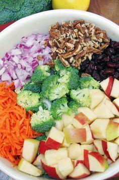 Healthy Broccoli Salad Recipe with Apples