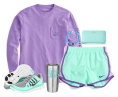 """I love purple and mint green together"" by hannahmae24 ❤ liked on Polyvore featuring NIKE and Kate Spade"