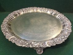Antique Victorian Silver Plate Tray Ornate Border TW & S Thomas Wilkinson Silver Plate, Tray, Victorian, Amp, Antiques, Antiquities, Antique, Silverware Tray, Trays