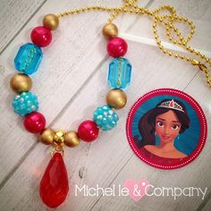 Matching Sparkle necklaces for her Elena of Avalor party...