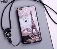 For Xiaomi Redmi 3 Case Cute Cartoon Eiffel Tower Matte TPU Soft Case For Xiaomi Hongmi 3 Silicone Case Cover Black + Lanyard #Affiliate