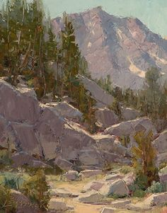 Rock Scramble by Jean LeGassick Oil ~ 12 x 9