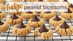 Swap out creamy peanut butter fudge for cookies to create these Fudge Peanut Blossoms with a Hershey's Kiss in the middle. Peanut Butter Blossoms, Peanut Butter Chips, Creamy Peanut Butter, Hershey Kiss Cookies, Hershey Kisses, Easy Fudge, Candies, Brown Sugar, Recipe Ideas