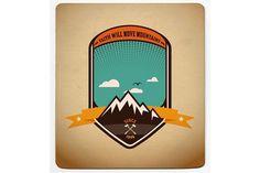 Adventure badge graphic design