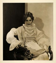 Yvoonne Pintemps  1934 duotone print of a French actress #Beautiful