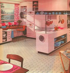 Armstrong Flooring ad for pink tile! Just a little over the top for me. Just me mind you.