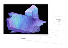 Purple crystal amethyst postcard.  Shop now: http://www.redbubble.com/people/marianamello/works/23611054-purple-crystal-amethyst-angel-aura-quartz-geode?p=greeting-card&card_size=postcard