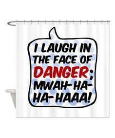 Love this 'Danger' Shower Curtain on #zulily! #zulilyfinds