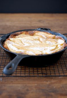 Pear Dutch Baby #GF~Get the recipe, then enter to win a copy of Fast and Simple Gluten-Free by Gretchen Brown. #glutenfree #giveaway
