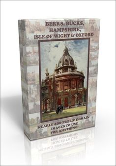 There are nearly 400 out of copyright pictures on our fab Berks, Bucks, Hants, Oxfordshire and Isle of Wight public domain DVD.  Includes lots of pictures of Oxford University, The Isle of Wight including Shanklin and the Needles, Windsor, Eton, Winchester, Southampton, The New Forest and more.  Click on the picture for details.