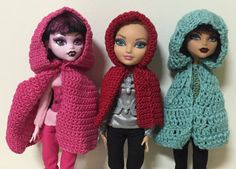Cape crochet pattern for Monster High / Ever After by Craftynesi