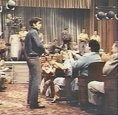 After his mother Gladys Presley died Elvis never watched Loving You as it features his mother in a bit-part (seated in blue in the audience in front of Elvis)