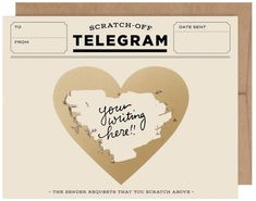 Inklings Paperie Classic Telegrams Scratch-off Greeting Cards - 6 Count, Beige Target Valentine's Day, Scratch Off Cards, Wedding Entertainment, Bridesmaid Proposal, Your Turn, Valentine Decorations, Kraft Envelopes, Your Message, Stationery