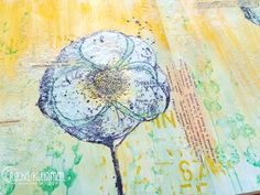 You made it to hump day! Yay! This is Rachel Kleinman on the Unity blog today to share a spring-inspired art journal page. I also have a photo tutorial so you can try one yourself!I can't believe it's taken me so long to finally ink up that Donna Downe...