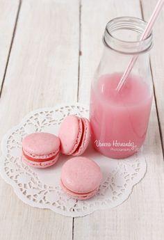 Strawberry Milkshake Macarons