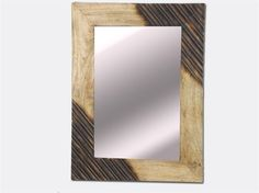 Ethnic wood mirror handmade  60X44X2 CM  #arredamento #specchio #etnico #interiordesign #home #decor #mirror #ethnic