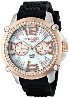 Women's Wrist Watches - MULCO Womens MW228050S021 Analog Display Swiss Quartz Black Watch * Read more at the image link.