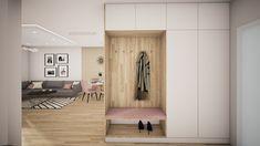 This modern and elegant design of your apartment entrance hall can you have from @avedesign.sk / Takýto moderný a elegantný dizajn vstupného priestoru Vášho bytu alebo domu môžete mat aj Vy od #avedesign / #interiordesign #interierovydizajn #interiordesign #interior_delux #interior #interiorstyling #navrhinterieru #interior123 #dekoracie #bytovydesign #luxury #scandinavian #bratislava #slovakdesign #housebeautiful #sketchup3d #vizualization #architecture #design #homedesign #modernarchitecture # Scandinavian Interior Design, Scandinavian Style, Apartment Entrance, Entrance Hall, Architecture Design, Entryway, Room, House, Furniture