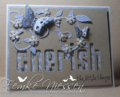 Love the patterned paper behind the die cut letters @Femke