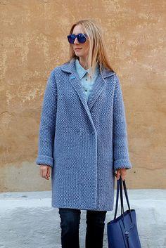"""Подготовка к осени идет полным ходом. В осенней коллекции пальто hand made появилось пальто очень красивого цвета """"светлый джинс""""... ..."""