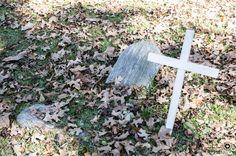 Old wood tombstones of war soldiers