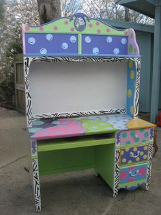 Painted Desks hand painted nursery and children's room murals | tools