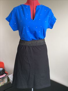 Harley top from la maison victor in Chat chocolat fabric. Skirt: kopied from  a store bought skirt