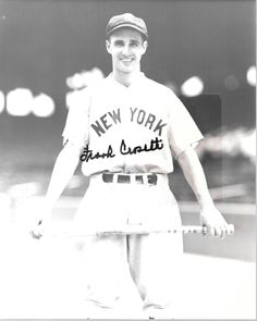 "NY Yankee Famous 3B Coach Frank Crosetti Signed Autographed Black & White 8x10 Photo ""FREE SHIPPING""! by SANDJCRAFTSANDTHINGS on Etsy"
