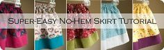 no hem skirt - genius, maybe this could get me started with sewing...