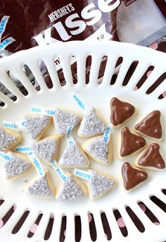 totally adorable wrapped and unwrapped Hershey's Kisses cookies.  Links to the tutorials