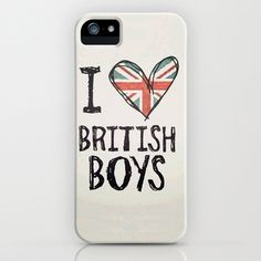 One Direction - I love British boys iPhone & iPod Case by amy. - $35.00