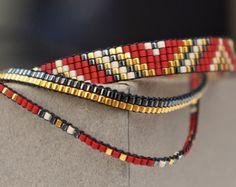 Set of 4 Miyuki beaded bracelets handmade Gold by YRSarmcandy