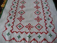 Bordado Hardanger - Ponto Reto - Hardanger Embroidery
