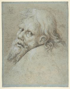Hans Hoffmann (German, Nuremberg ca. 1545/1550–1591/1592 Prague), Head of a Bearded Man, 1579. Pen and orange-brown ink, brush and brown and black washes, heightened with white, 10-7/8 x 8-1/2 in. (27.6 x 21.6 cm). The Metropolitan Museum of Art, New York, Purchase, David T. Schiff Gift, Van Day Truex and Mary Oenslager Funds, and The Elisha Whittelsey Collection, The Elisha Whittelsey Fund, 1999 (1999.84).