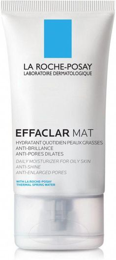 La Roche-Posay Effaclar Mat Daily Face Moisturizer for Oily Skin targets excess oil for a dual action: mattifies skin and refines pores. Provides daily hydration. #CharcoalFaceScrub La Roche Posay Effaclar, Moisturizer For Oily Skin, Best Oils, Pores, Best Face Products, Facial Products, Acne Prone Skin, Skin Cream, Action